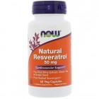 NOW Resveratrol 50mg 60капс