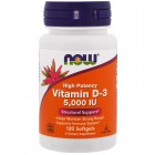 NOW Vitamin D-3 5000IU 120капс
