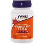 Vitamin D-3 5000IU 120капс NOW