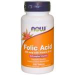NOW Folic Acid 800мкг 250таб