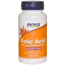 NOW Folic Acid 800мкг 250таб