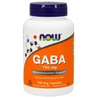 NOW GABA 750mg 100капс