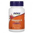 NOW Vitamin A 10000IU 100 капс.