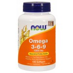 NOW Omega-3-6-9 1000мг 100капс