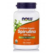NOW Spirulina 500mg 200таб