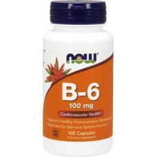 NOW Vitamin B-6 100мг 100капс