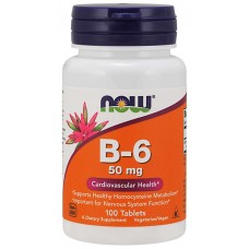 NOW Vitamin B-6 50мг 100таб