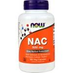 NOW NAC (N-ацетилцистеин) 600мг 100капс