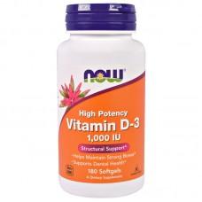 Vitamin D-3 1000IU 180капс NOW
