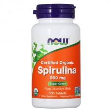 NOW Spirulina 500mg 100таб