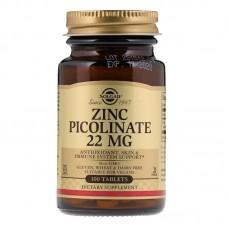 Solgar Zinc Picolinate 22мг 100таб